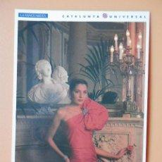 Postales: EL DISSENY, 8. MODELO DE ALTA COSTURA DEL TALLER DE CARMEN MIR - JORDI BELVER. Lote 43729787
