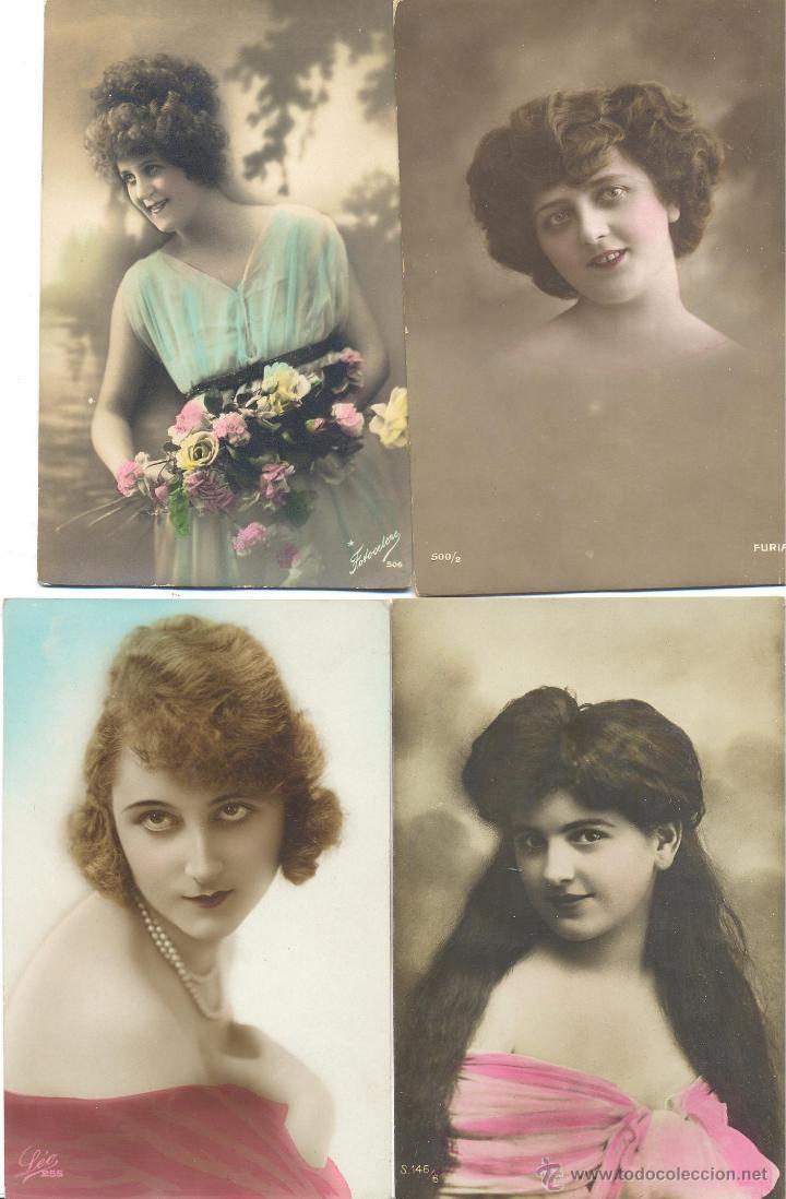 LOTE POSTALES ORIGINALES (Postales - Postales Temáticas - Galantes y Mujeres)