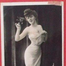Postales: POSTAL FOTOGRÁFICA COLOREADA. CIRCULADA. 1906.. Lote 44266615