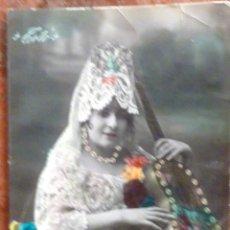 Postales: POSTAL CANTANTE TOTO CON MANTILLA . ESTRELLA DE DAVID . PINTADA ARGENTINA. Lote 44307946