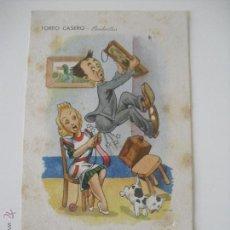 Postales: ANTIGUA POSTAL EDICIONES PABLO DÜMMATXEN SERIE 1554.TOREO CASERO. BANDERILLAS BARCELONA.SIN CIRCU. Lote 44461536