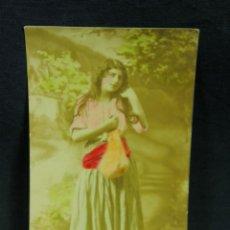Postales: POSTAL CIRCULADA MUJER JOVEN COLOREADA DESTINO BUENOS AIRES 1926 NÚMERO 2934. Lote 44679581