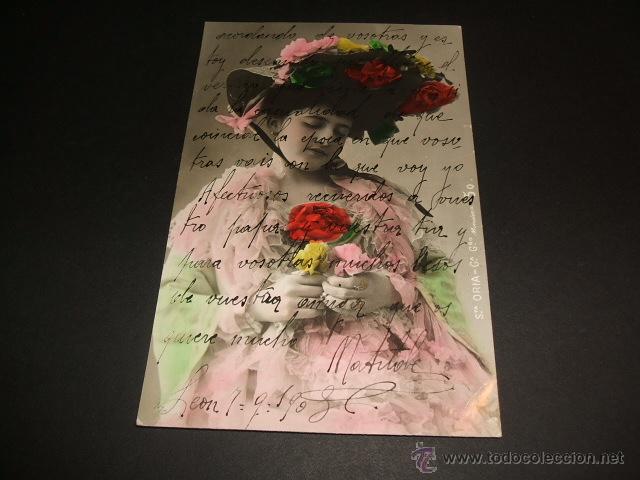 POSTAL 1908 ARTISTA CUPLETISTA STA. ORIA (Postales - Postales Temáticas - Galantes y Mujeres)