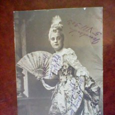 Postales: POSTAL MUJER CON ABANICO 1903 CIRCULADA SIN SELLO SIN DIVIDIR . Lote 45486212