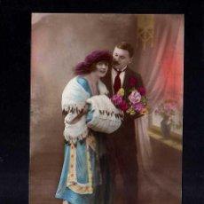 Postales: POSTAL PAREJA ROMÁNTICA. CIRCULADA 1923 . Lote 45502040