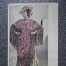 Postales: BELLEZAS BONITA POSTAL CON MOTIVOS BRILLANTES PEGADOS ANTERIOR A 1905. Lote 45677095