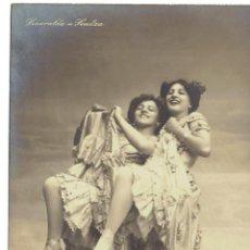 Postales: PS4939 SMERALDA Y SENITZA. POSTAL FOTOGRÁFICA. FECHADA EN 1906. Lote 45796164