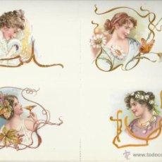 Postales: BONITA COLECCION DE 8 POSTALES DE DAMAS ANTIGUAS. Lote 45867409