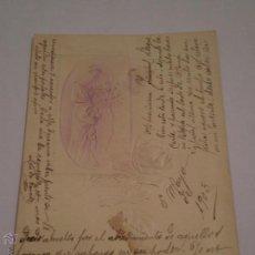 Postales: ANTIGUA TARJETA POSTAL DEDICADA.LUIS DE GARATE.MADRID-TRINIDAD TAPIA.BILBAO 1903.. Lote 46081348