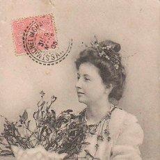Postales: POSTAL ROMÁNTICA CIRCULADA EN 1905. Lote 46544552