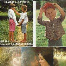 Postales: BONITO LOTE DE 5 POSTALES ANTIGUAS ROMANTICAS. Lote 46563672