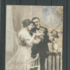Postales: FOTO POSTAL ANTIGUA DE - PAREJA CON NIÑO - ESCRITA EL 23 - 3- 1911. Lote 46703921