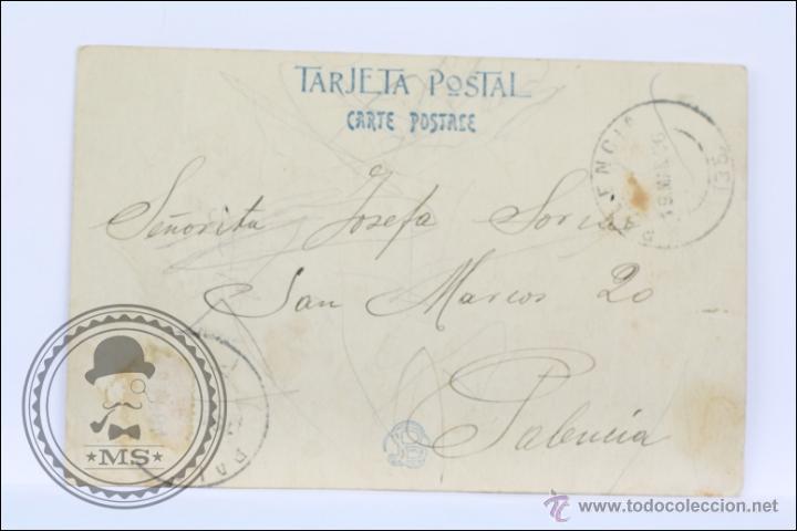 Postales: Antigua Postal Fotográfica - SA Victoria Eugenia de Battenberg - Circulada, Año 1906 - Foto 2 - 170993925