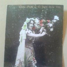 Postales: POSTAL FOTOGRAFICA COLOREADA - ACTRIZ, CUPLETISTA ELVIRA PINÓS - DEDICADA, 1910 . Lote 48155401