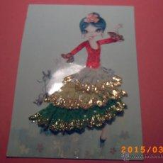 Postales: POSTAL BORDADA - JOVEN BAILADORA - FIRMA LESTER. Lote 48460321