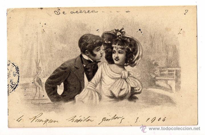 HISTORIA POSTAL TARJETA DIRIGIDA A PARIS (Postales - Postales Temáticas - Galantes y Mujeres)