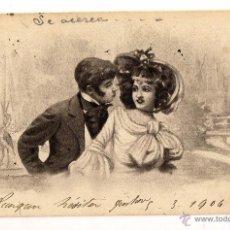 Postales: HISTORIA POSTAL TARJETA DIRIGIDA A PARIS. Lote 48617519