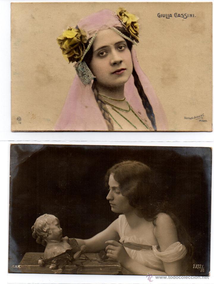 Postales: 4 postales románticas, antiguas - Foto 2 - 48718358