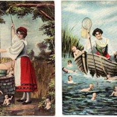 Postales: 6 POSTALES ROMANTICAS, BUENESTADO. Lote 48719106