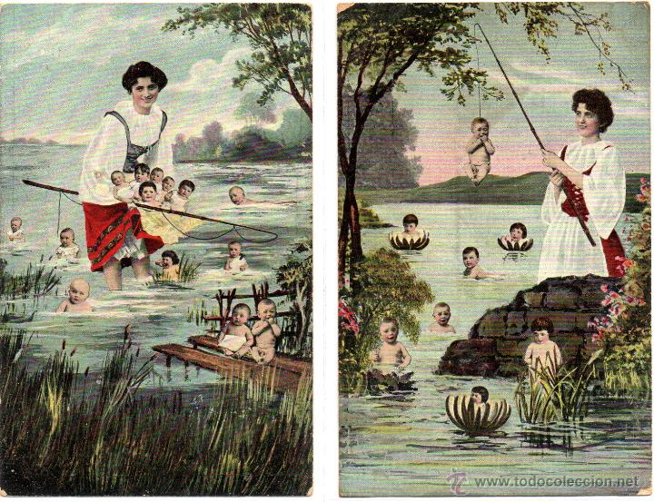 Postales: 6 postales romanticas, buenestado - Foto 2 - 48719106