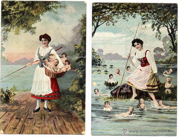 Postales: 6 postales romanticas, buenestado - Foto 3 - 48719106
