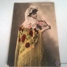 Postales: POSTAL COLOREADA, CONCHITA ORIA, AÑOS 10-20 (SIN CIRCULAR). Lote 49134452