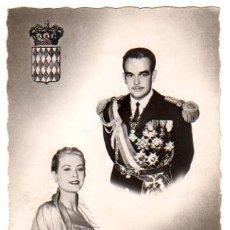 Postales: TARJETA POSTAL FOTOGRAFICA ENLACE MATRIMONIAL RAINIERO DE MONACO Y GRACE KELLY. AÑO 1956. Lote 49180497