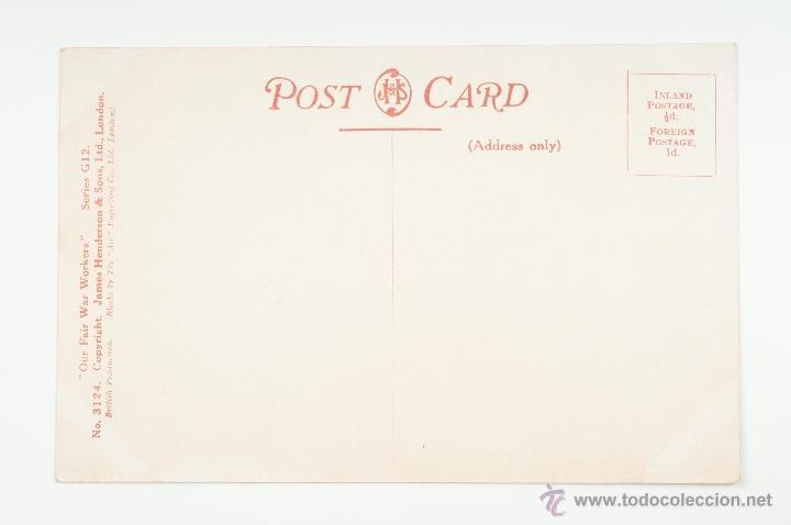 Postales: TARJETA POSTAL Nº 3124 SERIES G12 OUR FAIR WAR WORKORS, SIN CIRCULAR - Foto 2 - 49396548