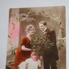 Postales: ANTIGUA POSTAL DE UNA PAREJA COLOREADA, ESCRITA HACIA 1910, REX 1484. Lote 49469580
