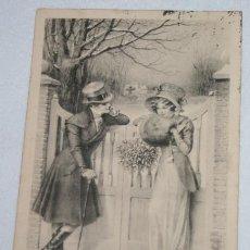 Postales: BONITA POSTAL ANTIGUA DE UNA PAREJA, ESCRITA EN 1923. Lote 49470606
