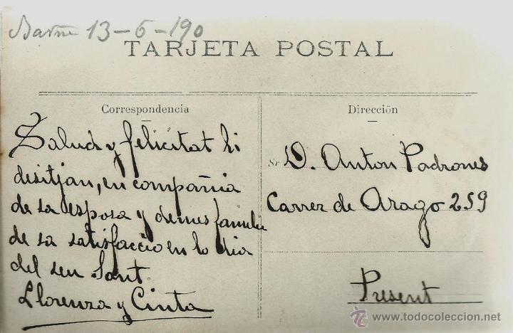 Postales: POSTAL FOTOGRAFICA ANTIGUA DE PAREJA TOCANDO EL PIANO - ESCRITA EL 13 - 6 - 1900 - Foto 2 - 49561439
