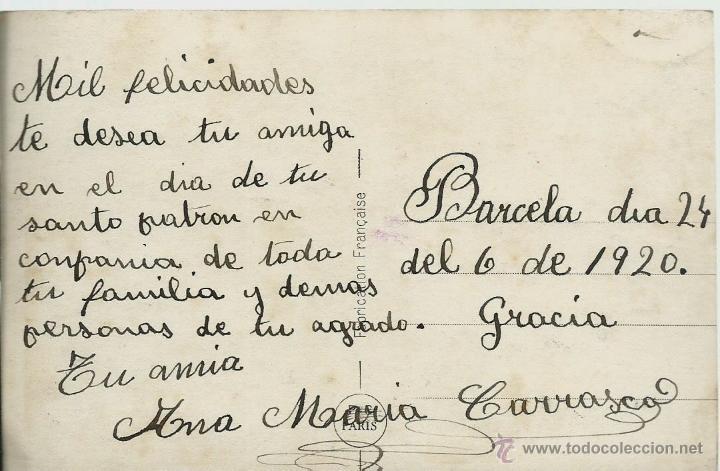 Postales: POSTAL FOTOGRAFICA ANTIGUA DE PAREJA - ESCRITA EL 24 - 6 - 1920 - Foto 2 - 49570341