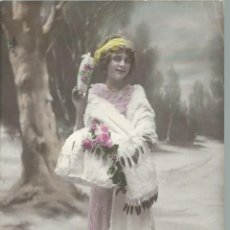 Postales: 3 POSTALES ANTIGUAS - FRANCESA DE UNA MODELO DE 1912 CIRCULADAS EL 12 - 8 - 1912 VER FOTOS. Lote 49596717