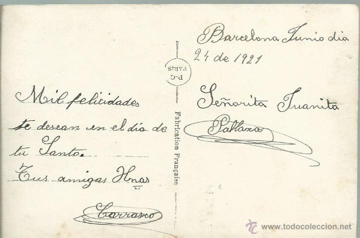 Postales: POSTAL - ANTIGUA DE UNA PAREJA ESCRITA EL 24 -6 - 1921 - Foto 2 - 49603494