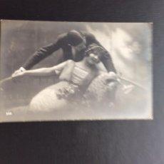 Postales: POSTAL MADE IN FRANCE .PAREJA DE ENAMORADOS. FECHADA EN 1915.. Lote 49648801