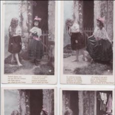 Postales: P- 1621. SERIE DE 4 POSTALES NIÑAS COLOREADAS STEBBING PHOT. . Lote 49992849