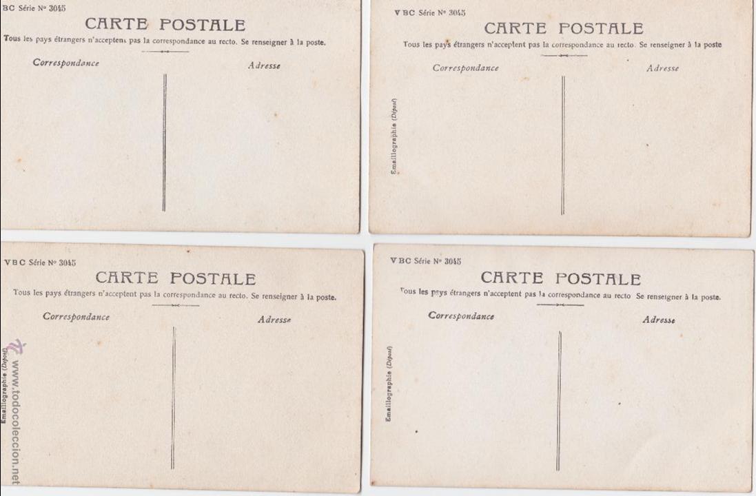 Postales: P- 1621. SERIE DE 4 POSTALES NIÑAS COLOREADAS STEBBING PHOT. - Foto 6 - 49992849