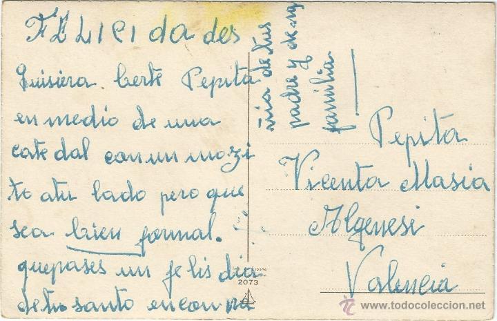 Postales: POSTAL DE UNA PAREJA COMIENDO CHOCOLATE - CIRCULADO - Foto 2 - 50571382
