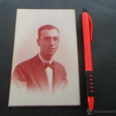 Postales: HOMBRE POSANDO - AÑOS 20 - FOTOGRAFO BOLDUN - VALENCIA. Lote 51020604