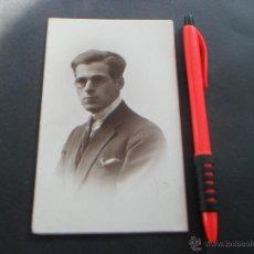 Postales: HOMBRE POSANDO - AÑOS 20 - FOTOGRAFO BOLDUN - VALENCIA. Lote 51020633