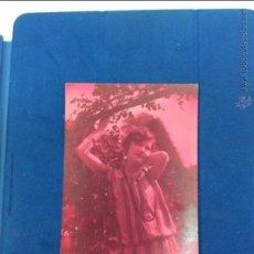 Postales: JOVEN AÑOS 3O. POSTAL COLOR VIRADO A ROSA .MANUSCRITA FECHADA EN 1932. Lote 51189993