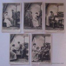 Postales: CINCO POSTALES SECUENCIA PAREJA - AÑO 1905 . Lote 51647193