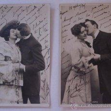 Postales: DOS ANTIGUAS POSTALES - SECUENCIA BESO - AÑO 1905. Lote 51648405