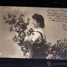Postales: ANTIGUA POSTAL JOVEN. CIRCULADA 1906. Lote 51801934