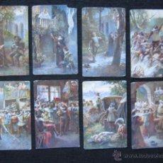 Postales: SERIE DE 7 POSTALES ROMÁNTICAS. ORIGINAL DE ÉPOCA. . Lote 51922440