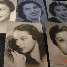Postales: 5 POSTALES ANTIGUAS DE FOTOGRAFIAS DE MUJER. EDICIONES FHER.. Lote 52624861