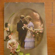 Postales: POSTAL ROMANTICA COLOREADA. CIRCULADA.. Lote 53048193