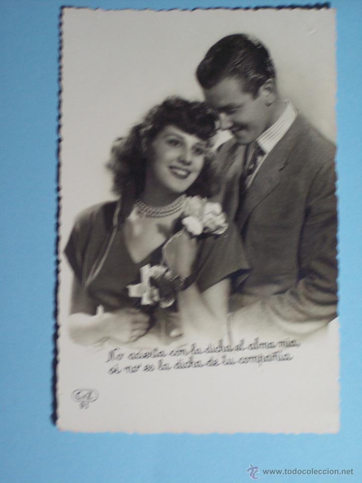 POSTAL ROMANTICA TROQUELADA (Postales - Postales Temáticas - Galantes y Mujeres)