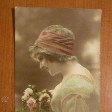 Postales: POSTAL ROMANTICA COLOREADA HN PARIS 1573. CIRCULADA 1913. Lote 53650046