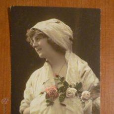 Postales: POSTAL ROMANTICA COLOREADA FELIZ AÑO. CIRCULADA 1913.. Lote 53650460